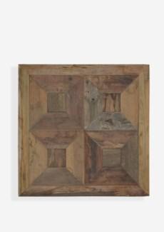 "(SP) 24"" X 24""  Atlas 3D Trapezoid Pattern Recycled Wood Mosaic (min 2 pcs) (24x1.5x24).."