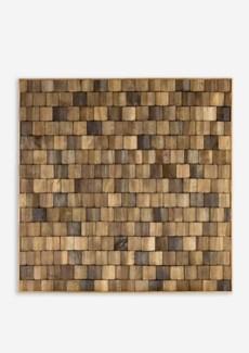 Diamond Wood Mosaic Wall Decor(18x1.5x18)