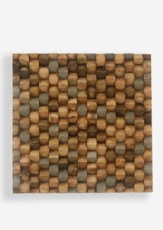 (SP) Terrace Wood Mosaic Wall Decor..(18x2x18)..