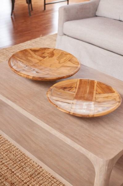 Mosaic Wood Bowl Medium Bowls And Trays Jeffan