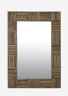 (SP) Colton Rectangle Mirror-Grey..(27X1.5X39)..