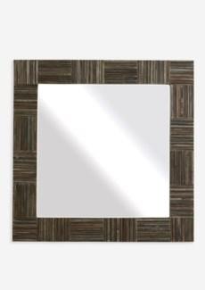 (SP) Colton Wood Block Strips Mirror-Grey..(35X2X35)..