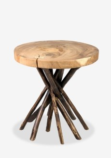 (SP) Liberte Round Side Table With Stick Base-Natural Base (22x22x22)