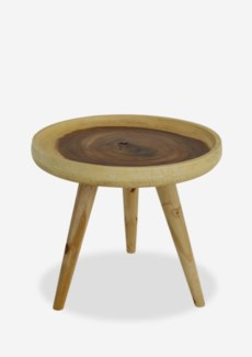 Liberte round tray side table with pin legs - natural