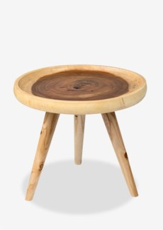 Liberte round tray side table with pin legs - natural (20x20x16.5)