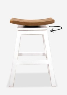 (SP) Organic Counterstool-Solid White..