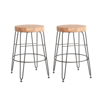 Fiona Counterstool in Iron Legs (14.5x14.5x24)