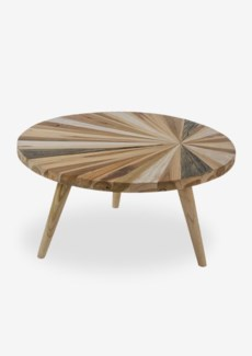 Sunburst Round Nesting Table With Wood Pin legs,Big --Knock Down(29x29x16)