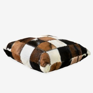 (LS) Safari Square Pillow in Patchwork Design..