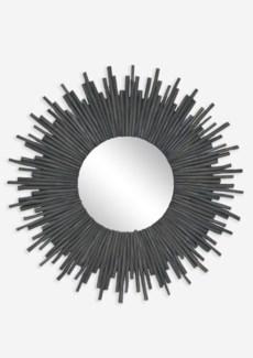 Twig Sunburst Mirror - Graywash