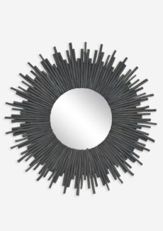 Twig Sunburst Mirror - Graywash
