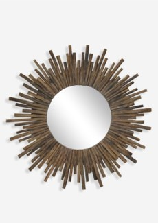 "(SP) 35"" Twig Sunburst Round Mirror in Natural..(35x2x35)"