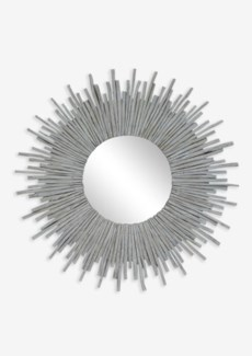 Twig Sunburst Mirror - Whitewash