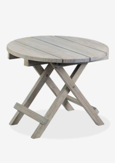 Sunset outdoor Folding Side Table - white