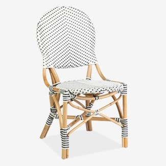 Isabel Outdoor Chair - White/Gray Taupe(18.5x24x36)