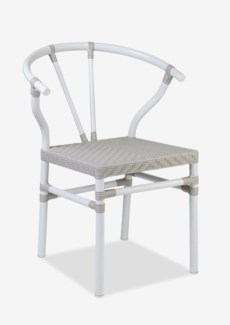 Horshoe outdoor Ming style chair (23.25x22.5x31.75)