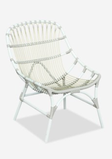St. John outdoor occasional chair (powdercoated frame and synthetic rattan) -- white/taupe(25.5x29x