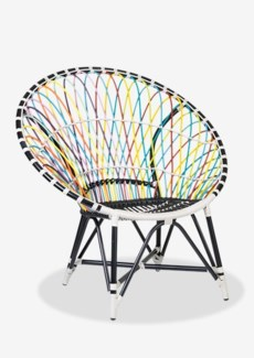 St Lucia outdoor round chair - multicolor(39.75x30.75x40.5)