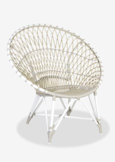 St Lucia outdoor round chair - white/taupe(39.75x30.75x40.5)