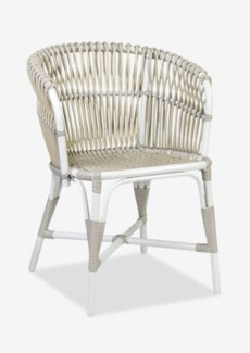 (LS) St. Martin outdoor round back occassional chair (23.5x22.5x31.25)....