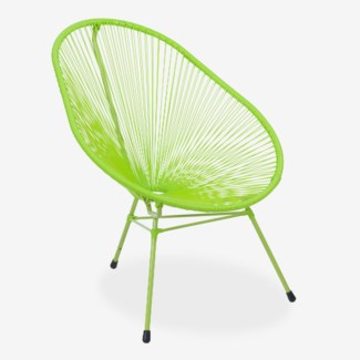 Scoop Outdoor Chair - UV Protected Resin (29X33X36) - Green (Cushion Not Included)