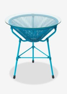 Scoop Side Table-Blue (19X19X23.5)Material/Color:UV 3MM; Blue ColorCBM:0.14Packing: Single Wall
