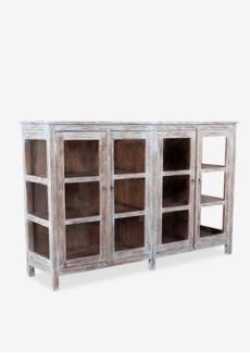 (LS) Macedon Sideboard With Open Glass Doors (47X20X73)