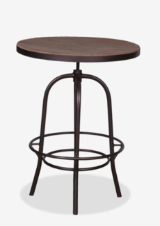 "Gabriel 31"" Bistro Table Wrapped with Iron Basemetal Base (31x37x45/31)"