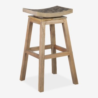 Cordova swivel barstool with -- coffee grain grey