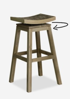 Cordova Barstool with grey coconut accent