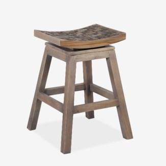 Cordova swivel counter stool -- coffee grain grey
