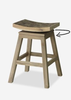 Cordova Counterstool with Coconut Tile Top-Old Look