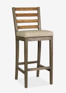 FT Davis Bar Stool - Grey Wash(18x20.5x44)