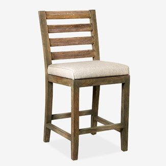 FT Davis Counter Stool - Grey Wash(18x20.5x40)