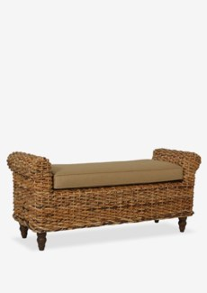 (SP) Woven Traditional Double Bench ..(55x18x24.5)..