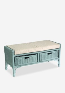 Seaview storage Bench with 2 drawers - Sky Blue
