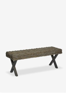 """Bayside 47"""" Bench With X Wood Base (K/D) (47x16x18)"""