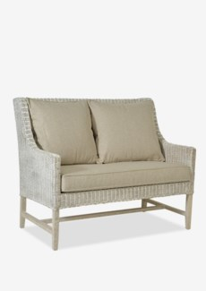 (LS) Hilton High Back Loveseat in White Aged..(48x30x40)..