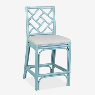 Hampton Chippendale Counterstool - Sky Blue