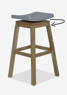Swivel Barstool with Grey/White Synthetic Wicker(17x17x29.5)