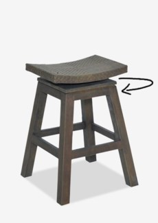 Swivel Counterstool with Natural Rattan Top in Grey Wash Frame(17x17x24)