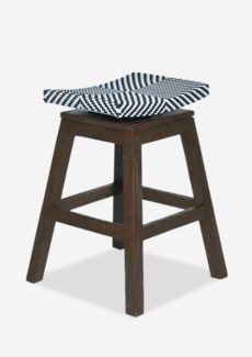 Swivel Counterstool with Black/white Synthetic Wicker (17x17x24)
