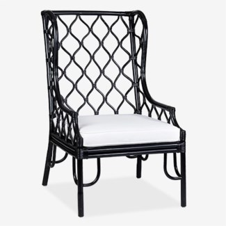 Ambrose Wing Chair - Black