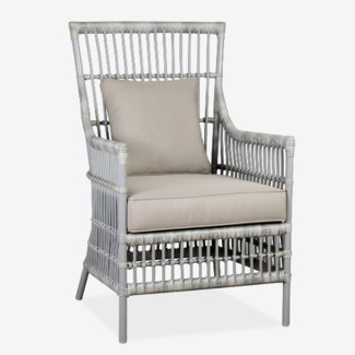 Outdoor High Back Winston Chair with Cushion (24X27X40)