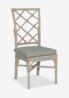 Pembroke Rattan Side Chair With A Repeat Diamond Pattern In A White Wash Finish-Minimum quantity 2(1