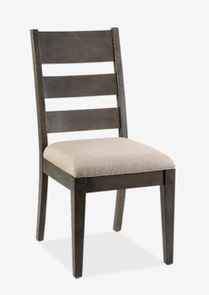 Emerson wood dining side chair with upholstered seat - K/D (min qty: 2 pc)(19X24X39)