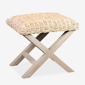 "20"" H X-stool bench with natural fiber(24x18x20)"