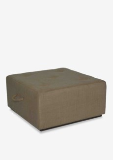 Gonic jute square ottoman cocktail table(35x35x18)