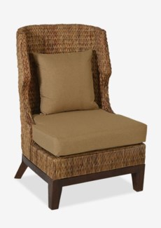 Patricia Woven Wing Back Chair  (27.5x30x43)