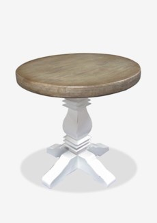 """Griffen 25.5"""" Two-Toned Bistro Table(25.5x25.5x26)Material/Color: Mahogany/Top:Vintage Grey Base:R"""